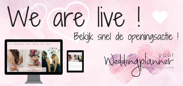 Your Weddingplanner is live!