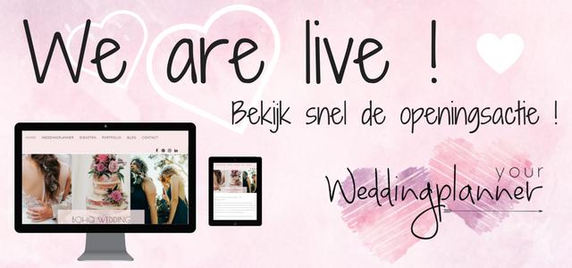 Your Weddingplanner is live!